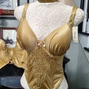Sexy Gold Bustier SOMA Top 36DD